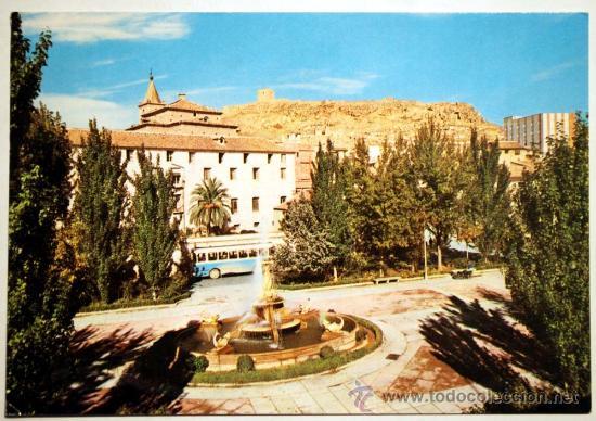 MURCIA. LORCA. PLAZA DE COLON AL FONDO EL CASTILLO. (Postales - España - Murcia Moderna (desde 1.940))