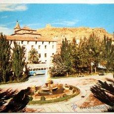 Postales: MURCIA. LORCA. PLAZA DE COLON AL FONDO EL CASTILLO.. Lote 27679371