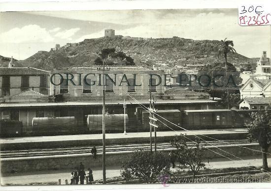 (PS-23655)POSTAL DE LORCA(MURCIA)-ESTACION DE FERROCARRIL (Postales - España - Murcia Moderna (desde 1.940))