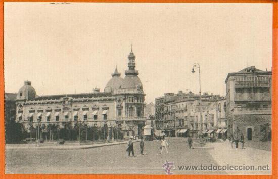 POSTAL ORIGINAL AÑO 1923 CARTAGENA - EXPLANADA DONDE SE CELEBRÓ EL ACTO CORONACION VIRGEN CARIDAD SC (Postales - España - Murcia Antigua (hasta 1.939))