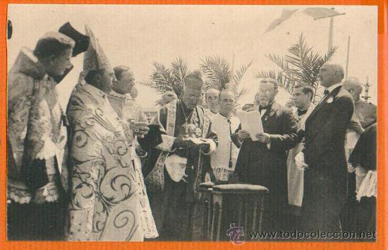 POSTAL ORIGINAL AÑO 1923 - NOTARIO LEYENDO ACTA CORONACION VIRGEN CARIDAD - CARTAGENA - FOTO CASAÚ (Postales - España - Murcia Antigua (hasta 1.939))