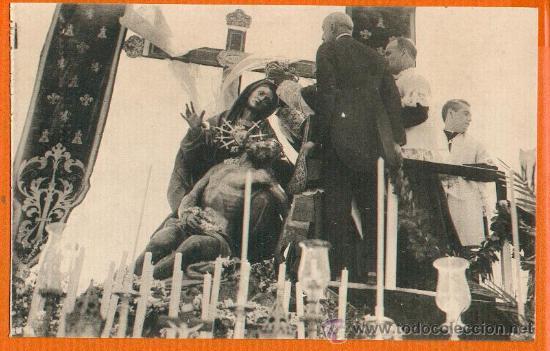 POSTAL ORIGINAL AÑO 1923 - CARTAGENA - MOMENTO DE LA CORONACION VIRGEN DE LA CARIDAD - FOTO CASAÚ SC (Postales - España - Murcia Antigua (hasta 1.939))