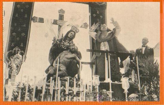 POSTAL ORIGINAL AÑO 1923 - CARTAGENA - OBISPO FRUTO CALIENTE DISCURSO CORONACION - FOTO CASAÚ SC (Postales - España - Murcia Antigua (hasta 1.939))