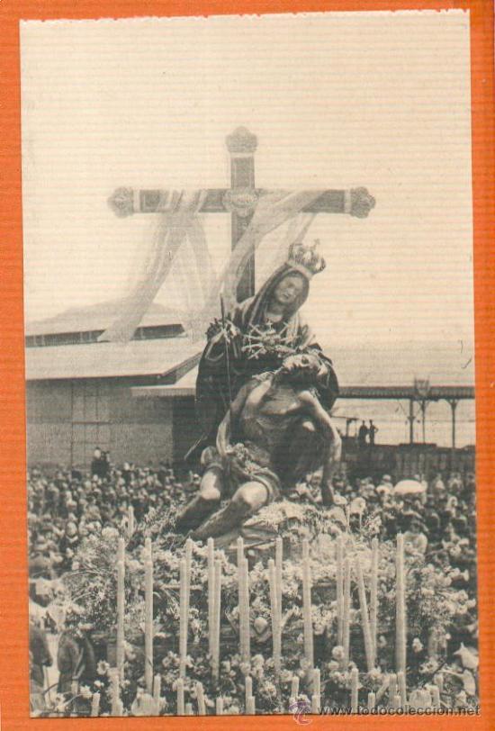 POSTAL ORIGINAL AÑO 1923 - CARTAGENA - VIRGEN CARIDAD DESPUES DE CORONARLA - FOTO CASAÚ SC (Postales - España - Murcia Antigua (hasta 1.939))