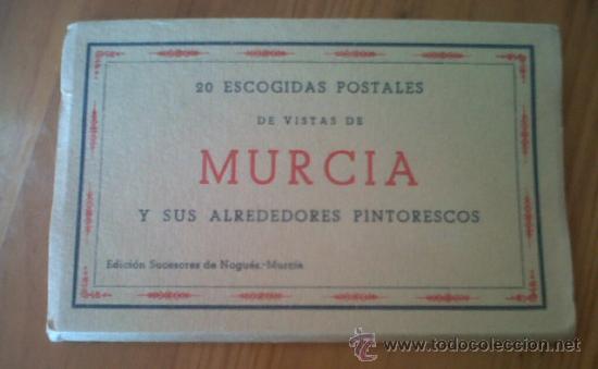 LOTE DE 20 ESCOGIDAS POSTALES DE VISTAS DE MURCIA Y SUS ALREDEDORES PINTORESCOS SUCESORES DE NOGUES (Postales - España - Murcia Antigua (hasta 1.939))