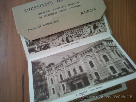Postales: LOTE DE 20 ESCOGIDAS POSTALES DE VISTAS DE MURCIA Y SUS ALREDEDORES PINTORESCOS SUCESORES DE NOGUES - Foto 2 - 28648355