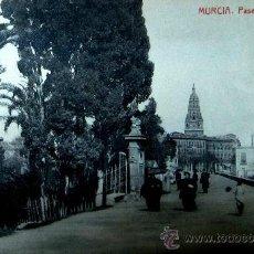 Postales: MURCIA: PASEO DEL MALECÓN. FOTOTIPIA THOMAS. AÑOS 20. Lote 29049129