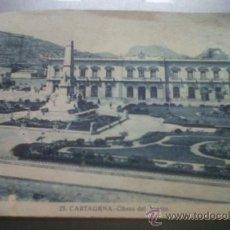 Postales: ANTIGUA POSTAL OBRAS DEL PUERTO HEROES SANTIAGO DE CUBA Y CAVITE EDICION CASAU CARTAGENA MURCIA. Lote 29082765