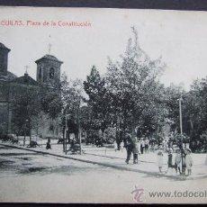 Postales: ÁGUILAS. MURCIA. PLAZA DE LA CONSTITUCIÓN – EDICIÓN TORRECILLAS. FOTOTIPIA THOMAS. BARCELONA. Lote 29242177