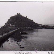 Postales: AGUILAS (MURCIA).- ESCOLLERA Y CASTILLO.- EDIC. CASA AZNAR Nº 5.- FOTOGRÁFICA.. Lote 29288559