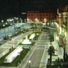 Postales: MURCIA - GLORIETA DE ESPAÑA NOCTURNA. AL FONDO HOTEL VICTORIA. Lote 29322740