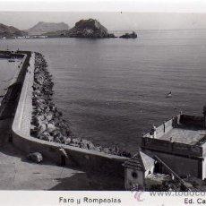 Postales: AGUILAS (MURCIA).- FARO Y ROMPEOLAS.- ED. CASA AZNAR Nº 6.- FOTOGRÁFICA.. Lote 29377491