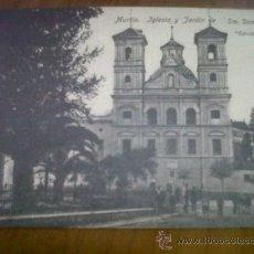 Postales: ANTIGUA POSTAL ANIMADA IGLESIA Y JARDIN DE SANTO DOMINGO MURCIA EDICION ROMERO. Lote 29408777