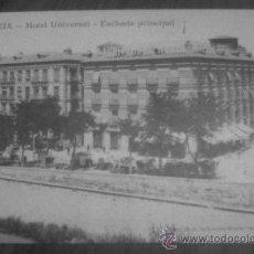 Postales: ANTIGUA POSTAL HOTEL EDICION ESPECIAL HOTELES PATRON Y UNIVERSAL MURCIA ANDRES FABERT. Lote 29410194