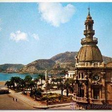 Postales: MURCIA. CARTAGENA. PUERTO Y MONUMENTO A LOS HEROES DE CAVITE.. Lote 29482408