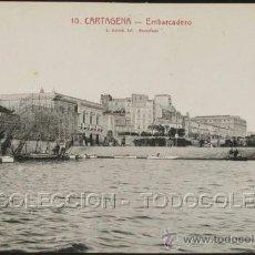 Postales: POSTAL CARTAGENA MURCIA EMBARCADERO . L. ROISIN CA AÑO 1920 .. Lote 29852190