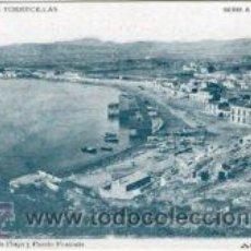 Postales: AGUILAS (MURCIA).- VISTA PARCIAL DE LA PLAYA Y PUERTO PONIENTE.- COLEC. TORRECILLAS, SERIE A Nº 1.-. Lote 29644365