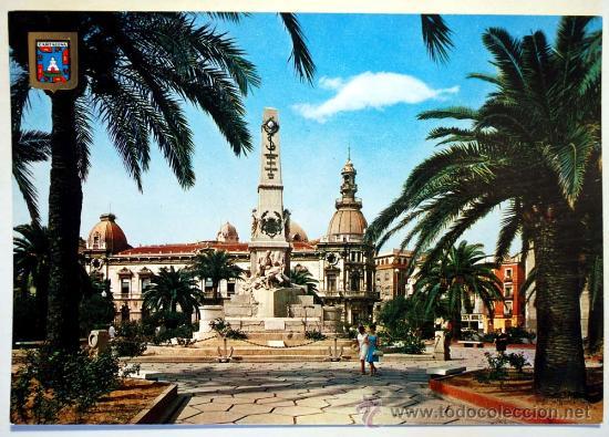 MURCIA. CARTAGENA. MONUMENTO A LOS HÉROES DE CAVITE. (Postales - España - Murcia Moderna (desde 1.940))
