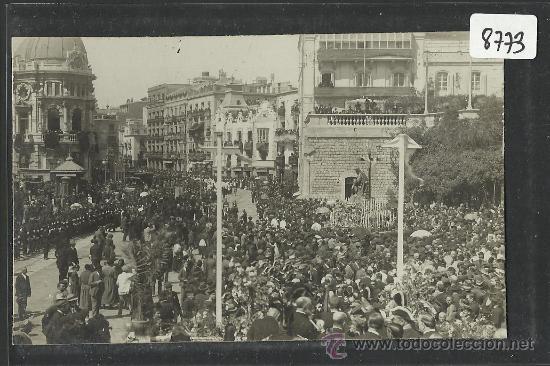 CARTAGENA -17 -ABRIL-1923 - RECDO. DE LA CORONACION VIRGEN DE LA CARIDAD -FOTOGR. CASAU - (8773) (Postales - España - Murcia Antigua (hasta 1.939))