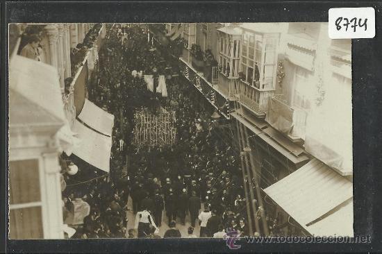 CARTAGENA -17 -ABRIL-1923 - RECDO. DE LA CORONACION VIRGEN DE LA CARIDAD -FOTOGR. CASAU - (8774) (Postales - España - Murcia Antigua (hasta 1.939))