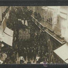 Postales: CARTAGENA -17 -ABRIL-1923 - RECDO. DE LA CORONACION VIRGEN DE LA CARIDAD -FOTOGR. CASAU - (8774). Lote 30194738