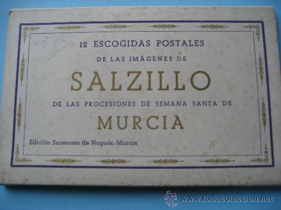 MURCIA. 12 POSTALES LAS IMAGENES DE SALZILLO DE LAS PROCESIONES DE SEMANA SANTA DE MURCIA. (Postales - España - Murcia Moderna (desde 1.940))