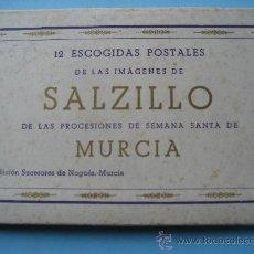 Postales: MURCIA. 12 POSTALES LAS IMAGENES DE SALZILLO DE LAS PROCESIONES DE SEMANA SANTA DE MURCIA.. Lote 30351417