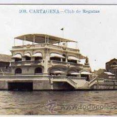Postales: CARTAGENA. FOTOGRÁFICA. 103. CLUB DE REGATAS. INDUSTRIAL FOTOGRAFICA. VALENCIA. CIRCULADA.. Lote 31066967