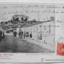 Postales: (MU-9) MURCIA-POSTAL BAÑOS DE FORTUNA CALLE CASCALES Y VILLA ATALAYA. SERIE 1-Nº 2. PRINCIPIOS 1900. Lote 31192849