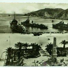 Cartes Postales: POSTAL CARTAGENA HÉROES CAVITE Y SALIDA DE LA ESCUADRA FOTOS CASAU Nº 41 CIRCULADA 1952. Lote 31414033