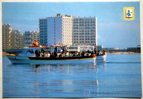 MURCIA. LA MANGA. HOTEL DOBLEMAR. CASINO. VISTA DESDE EL MAR MENOR. (Postales - España - Murcia Moderna (desde 1.940))
