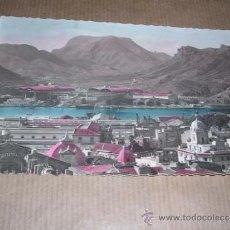 Postales: 34 CARTAGENA (MURCIA)ASTILLEROS DE LA EMPRESA NACIONAL BAZAN ,ILUMINADA CON ANILINAS 14X9 CM. . Lote 32131962