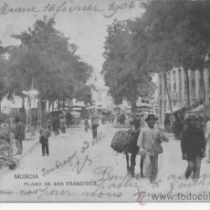 Postales: MURCIA PLANO DE SAN FRANCISCO. 1183 HAUSER Y MENET. . Lote 32426260