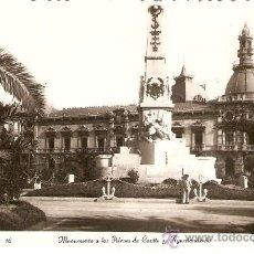 Postales: CARTAGENA Nº 16 MONUMENTO A LOS HEROES DE CAVITE Y AYUNTAMIENTO EDICIONES ARRIBAS S/C.. Lote 34043057