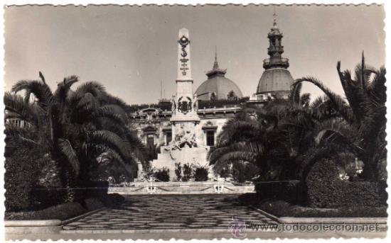 BONITA POSTAL - FOTOGRAFICA - CARTAGENA (MURCIA) - MONUMENTO A LOS HEROES DE CAVITE (Postales - España - Murcia Moderna (desde 1.940))