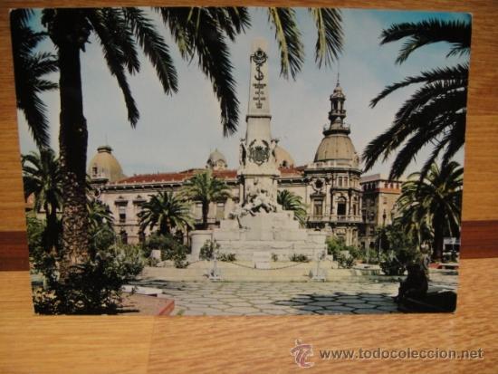 CARTAGENA MONUMENTO A SANTIAGO Y CAVITE SIN CIRCULAR - EDICIONES VISTAVELLA (Postales - España - Murcia Moderna (desde 1.940))