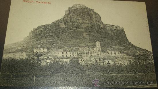 ANTIGUA POSTAL MURCIA MONTEAGUDO FOTOTIPIA THOMAS BARCELONA (Postales - España - Murcia Antigua (hasta 1.939))