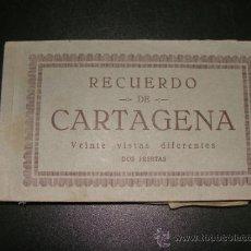 Postales: 20 POSTALES DE CARTAGENA EN SU CUADERNO ORIGINAL. Lote 35581626