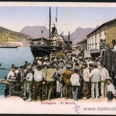 Postales: POSTAL CARTAGENA MURCIA EL MUELLE . CA AÑO 1900 .. Lote 37039422