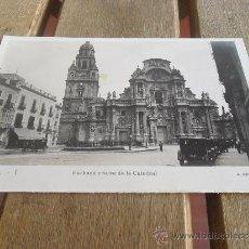 Postales: POSTAL FOTOGRAFICA DE MURCIA FACHADA Y TORRE DE LA CATEDRAL A BELLIDO. Lote 38215184