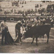 Postales: CARTAGENA,1917,POSTAL FOTOGRAFICA FESTIVAL TAURINO, MAGNIFICO DETALLES, FOT.CASAUS. Lote 38223970