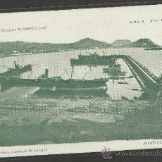 Postales: AGUILAS - SERIE A NUM 9 - ESCOLLERA DEL PUERTO DE LEVANTE - COLECCION TORRECILLAS - (17221). Lote 38304481