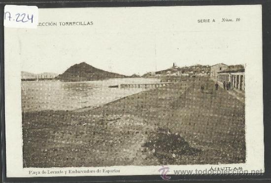 AGUILAS - SERIE A NUM 10 - PLAYA DE LEVANTE Y EMBARCADERO... - COLECCION TORRECILLAS - (17224) (Postales - España - Murcia Antigua (hasta 1.939))