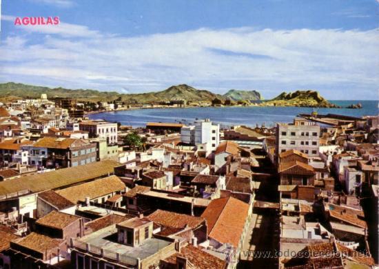 T.P. Nº 9. ÁGUILAS (MURCIA). VISTA PARCIAL Y PUERTO. ESCRITA PERO SIN CIRCULAR. AÑO 1969. MAGNÍFICA. (Postales - España - Murcia Moderna (desde 1.940))