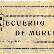 Postales: MURCIA RECUERDO DE MURCIA, EDICIÓN MELERO 15 POSTALES . Lote 38720315