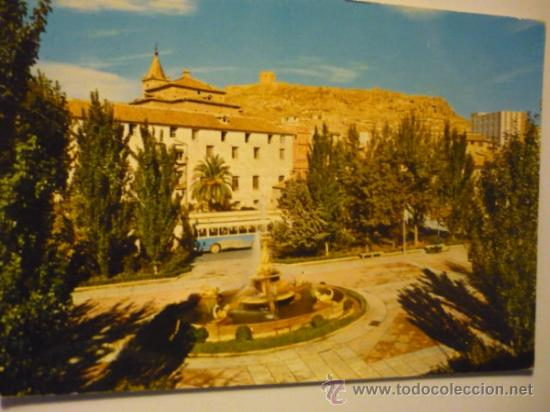 POSTAL LORCA .-VISTA PL.COLON Y CASTILLO FONDO.-ESCRITA (Postales - España - Murcia Moderna (desde 1.940))