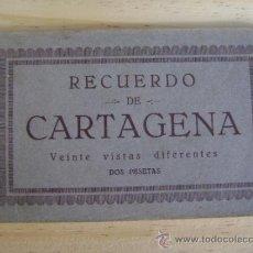 Postales: LIBRILLO O ESTUCHE 20 POSTALES CARTAGENA, ED. CASAÚ, 19 POSTALES. Lote 38951276