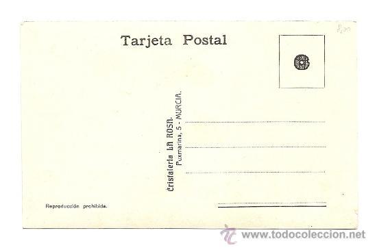 Postales: MURCIA - POSTAL EDITADA POR CRISTALERÍA LA ROSA MURCIA - S/C - SEGURAMENTE IMAGEN PASO DE SALZILLO - Foto 2 - 39250391