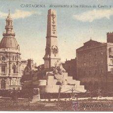 Postales: PS0747 CARTAGENA 'MONUMENTO A LOS HÉROES DE CAVITE Y SANTIAGO'. ED. J. CASAÚ. FECHADA EN 1926. Lote 39279688