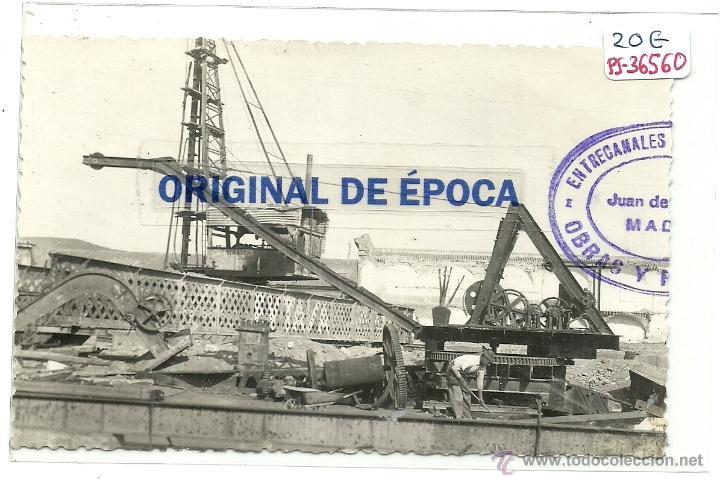 (PS-36560)POSTAL DE CARTAGENA-OBRAS EN EL PUERTO (Postales - España - Murcia Moderna (desde 1.940))